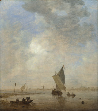 Jan van Goyen: 'Fishermen hauling a Net'