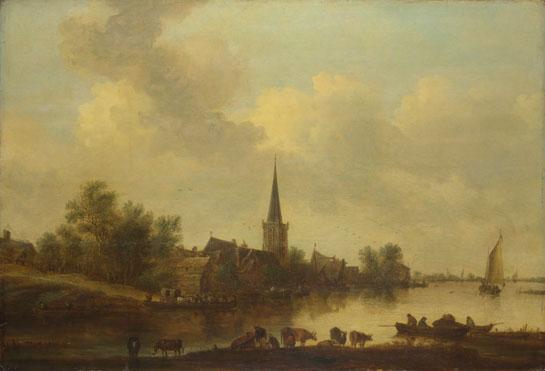 Jan van Goyen: 'A River Landscape'