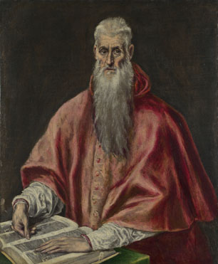 Attributed to El Greco: 'Saint Jerome as Cardinal'