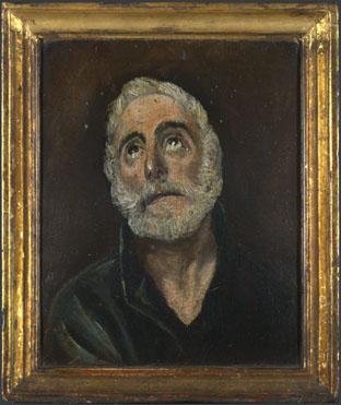 After El Greco: 'Saint Peter'