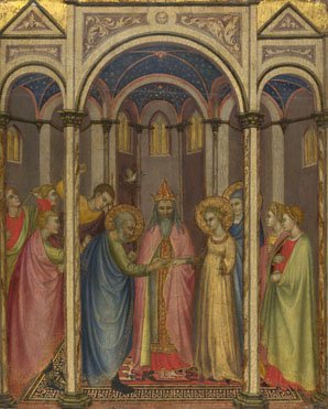 Attributed to Gregorio di Cecco di Luca: 'The Marriage of the Virgin'
