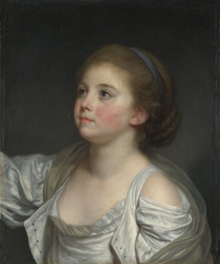 Jean-Baptiste Greuze: 'A Girl'