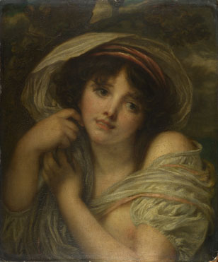 Follower of Jean-Baptiste Greuze: 'A Girl'