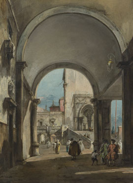 Francesco Guardi: 'An Architectural Caprice'