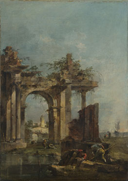 Francesco Guardi: 'A Caprice with Ruins on the Seashore'