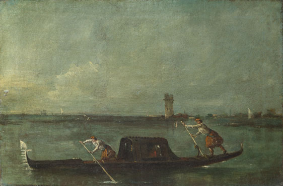 Francesco Guardi: 'A Gondola on the Lagoon near Mestre'