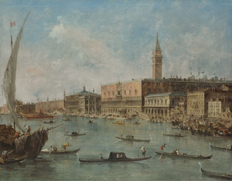 Francesco Guardi: 'Venice: The Doge's Palace and the Molo'