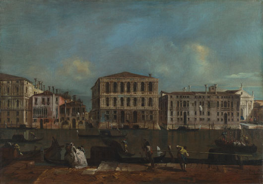 Francesco Guardi: 'Venice: The Grand Canal with Palazzo Pesaro'