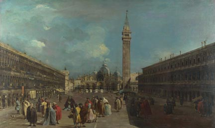 Francesco Guardi, 'Venice: Piazza San Marco', about 1760