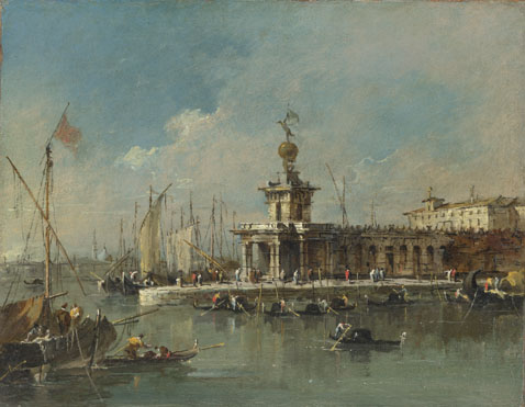 Francesco Guardi: 'Venice: The Punta della Dogana'