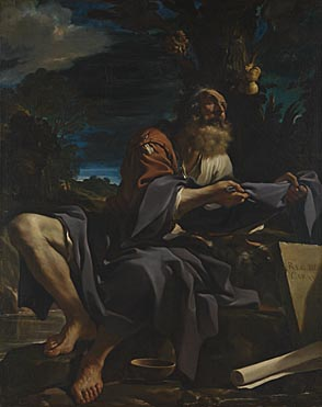 Guercino, 'Elijah fed by Ravens', 1620