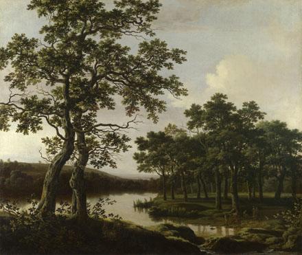 Joris van der Haagen: 'A River Landscape'