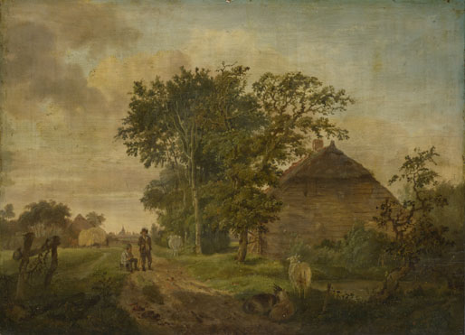 Jan Cornelis Haccou: 'A Road by a Cottage'