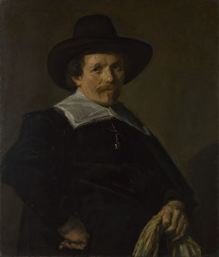 Frans Hals: 'Portrait of a Man holding Gloves'