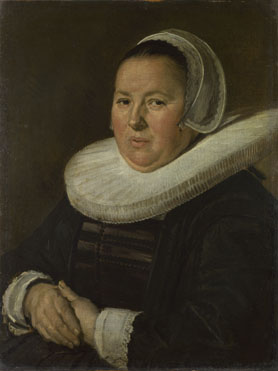 Frans Hals: 'Portrait of a Middle-Aged Woman with Hands Folded'