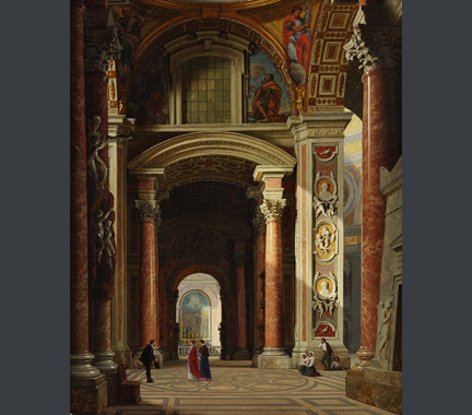 Heinrich Hansen: The Interior of St Peter's'.