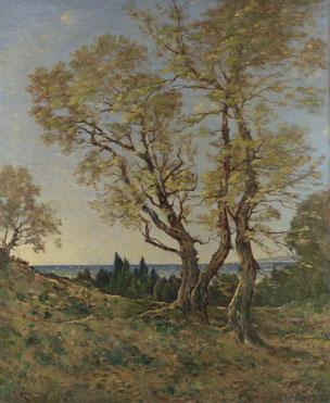 Henri-Joseph Harpignies: 'Olive Trees at Menton'