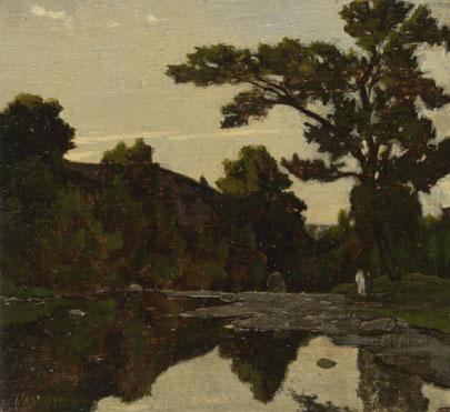 Henri-Joseph Harpignies: 'A River Scene'
