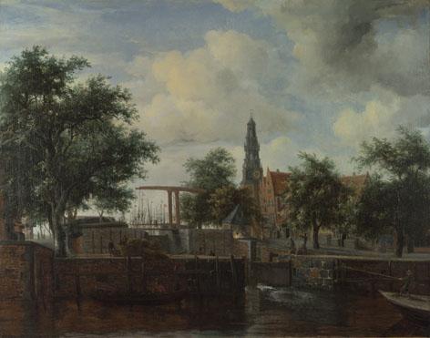 Meindert Hobbema: 'The Haarlem Lock, Amsterdam'