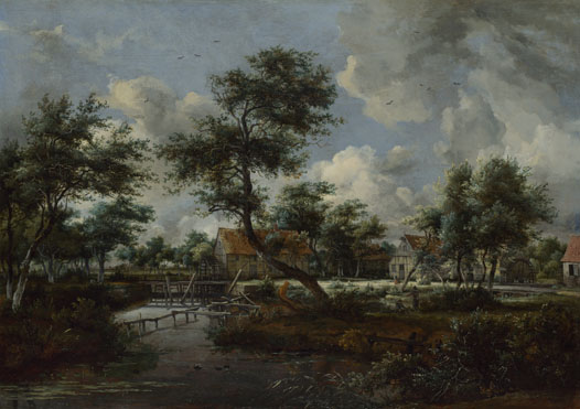 Meindert Hobbema: 'The Watermills at Singraven near Denekamp'