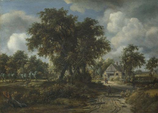 Meindert Hobbema: 'A Woody Landscape'