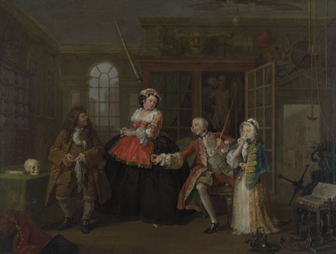 William Hogarth: 'Marriage A-la-Mode: 3, The Inspection'