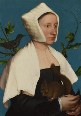 Hans Holbein the Younger: 'A Lady with a Squirrel and a Starling (Anne Lovell?)'