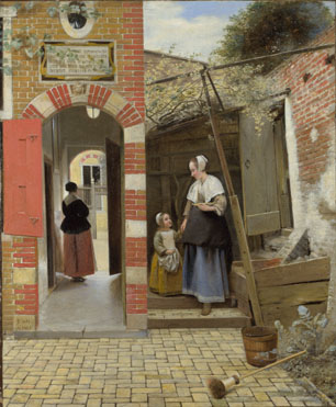 Pieter de Hooch: 'The Courtyard of a House in Delft'