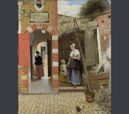 Pieter de Hooch, 'The Courtyard of a House in Delft', 1658