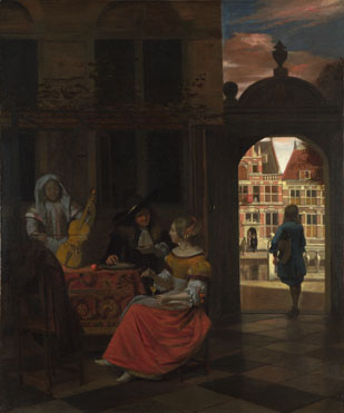 Pieter de Hooch: 'A Musical Party in a Courtyard'