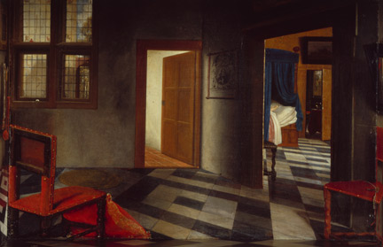 Detail from Samuel van Hoogstraten, 'A Peepshow with Views of the Interior of a Dutch House', about 1655-60