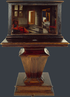 Samuel van Hoogstraten: 'A Peepshow with Views of the Interior of a Dutch House'