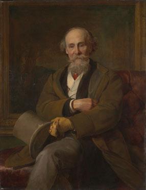 John Callcott Horsley: 'Portrait of Martin Colnaghi'