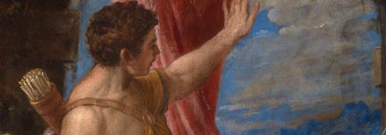 Detail from Titian, 'Diana and Actaeon', 1556-9