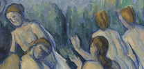 Detail from Cézanne, 'Bathers'