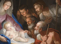 Detail from Guido Reni, 'The Adoration of the Shepherds'