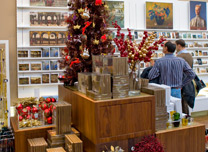 Gallery shop at Christmas