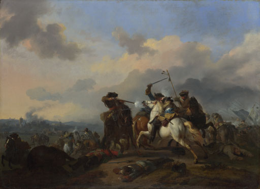 Jan van Huchtenburgh: 'A Battle'