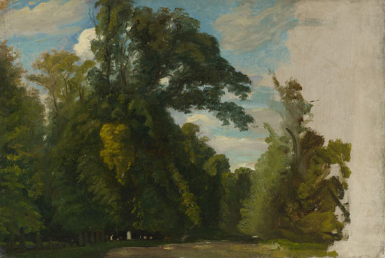 Paul Huet: 'Trees in the Park at Saint-Cloud'
