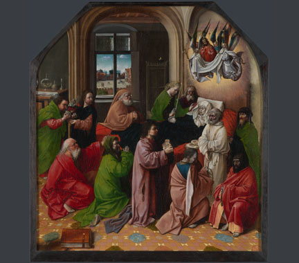 After Hugo van der Goes, 'The Death of the Virgin', probably after 1500