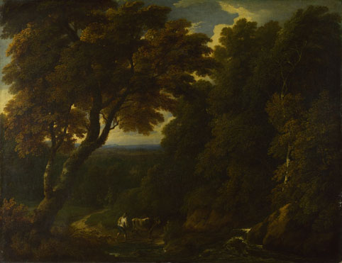 Jan-Baptist Huysmans: 'A Cowherd in a Woody Landscape'