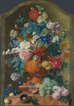 Jan van Huysum: 'Flowers in a Terracotta Vase'
