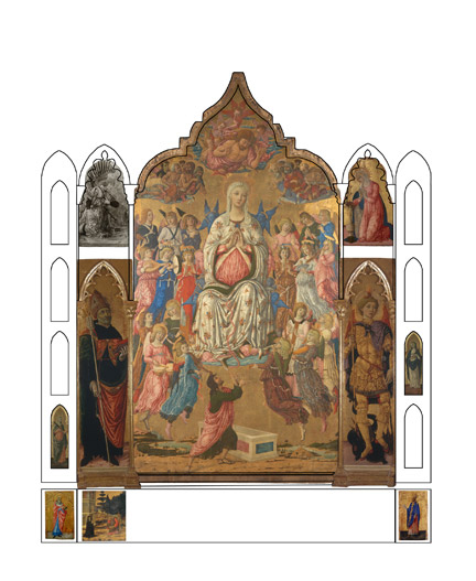 fig.2 Proposed reconstruction of the Asciano Altarpiece