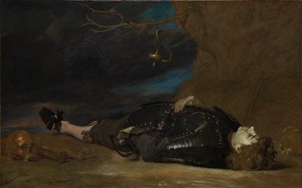 Italian, 'A Dead Soldier, 17th century