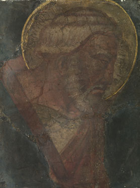 Italian, Florentine: 'Head of a Male Saint'