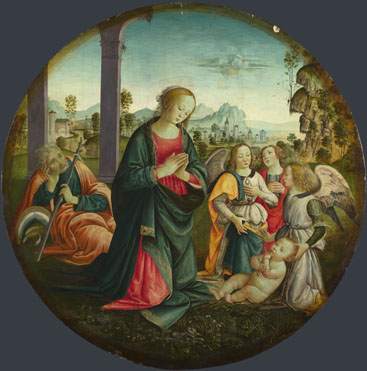 Italian, Florentine: 'The Holy Family with Angels'