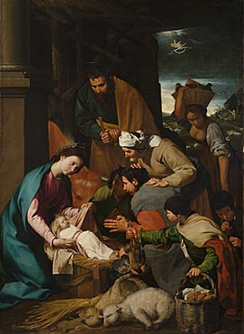 Italian, Neapolitan: 'The Adoration of the Shepherds'