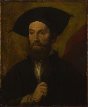 Italian, North: 'Portrait of a Man in a Large Black Hat'