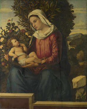 Italian, North: 'The Virgin and Child with Roses and Laurels'