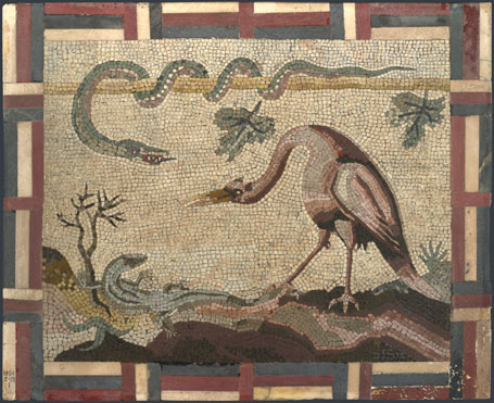 Italian, Roman: 'Crane, Python and Lizard'